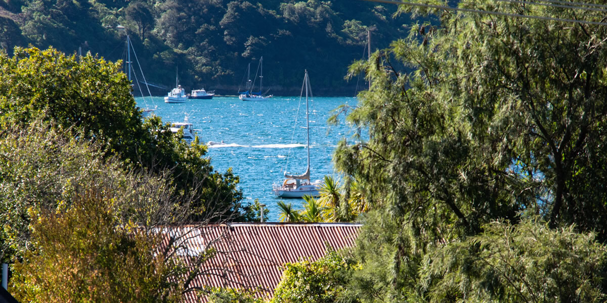 Balcony View From Palmira Lodge Accommodation In Waikawa Marlborough Sounds NZ