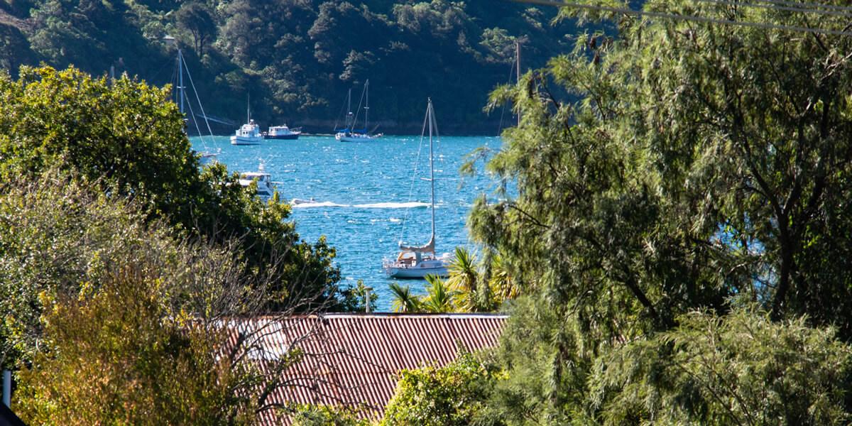 Balcony View From Palmira Lodge Accommodation In Waikawa Marlborough Sounds NZ