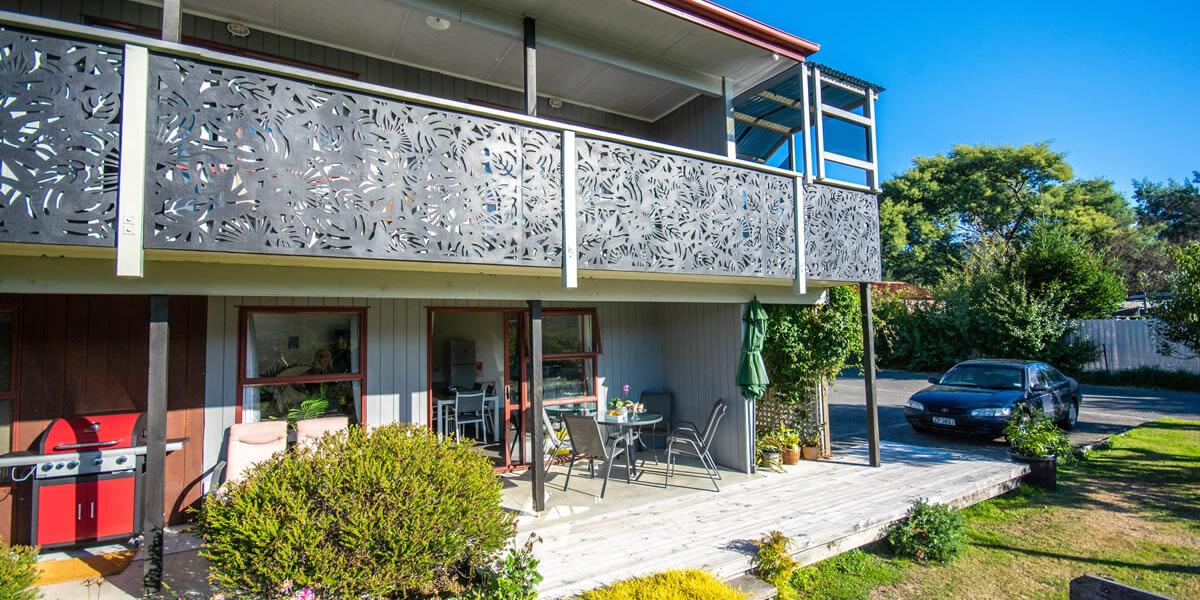 Porch Area At Palmira Lodge Accommodation In Waikawa Marlborough Sounds NZ