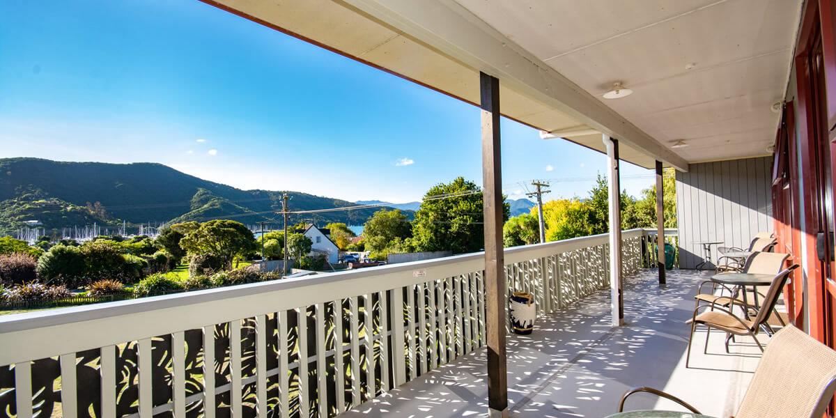 View From Palmira Lodge Accommodation In Waikawa Marlborough Sounds NZ